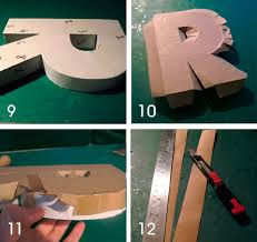 how to make cardboard letters