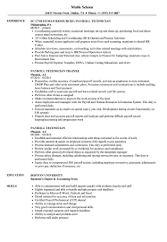 Payroll Technician Resume Samples Velvet Jobs