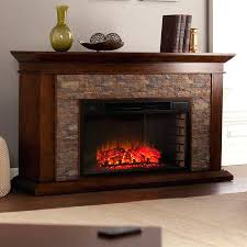 led electric fireplace heater hiskey insert no heat tv stand