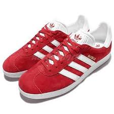 adidas red shoes. image is loading adidas-originals-gazelle-red-white-mens-vintage-shoes- adidas red shoes