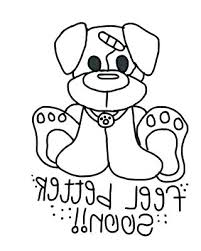 Get Well Soon Coloring Pages Feel Better For Adults Flower Pdf