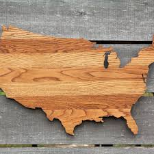 united states shape wood cutout wall art handcrafted from repurp