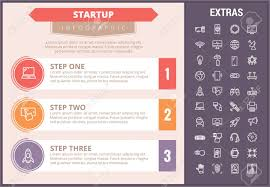 Startup Timeline Template Startup Infographic Timeline Template Elements And Icons Infograph
