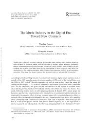 Music Contract Pdf The Music Industry In The Digital Era Toward New Contracts