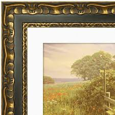 picture frame black gold ornate