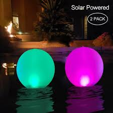 Best Pool Lights To Buy Esuper Floating Ball Pool Light Solar Powered 2 Pack 14 Inch Inflatable Ip68