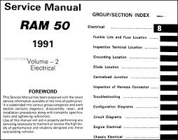 1991 dodge ram 50 truck repair shop manual original 2 volume set Dodge Ram W350 Wiring Diagram table of contents page 2 1996 Dodge Ram Wiring Diagram