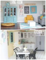 diy dollhouse living room kitchen by craftiness is not optional affordable dollhouse furniture