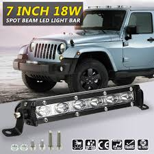Waterproof Led Light Bar For Atv Us 10 11 38 Off 2pcs 7inch 18w Car Led Light Bar Led Chips Waterproof Offroad Car Work Bulb Headlight Atv Suv 4wd Boat Truck For Jeep Bmw In Car