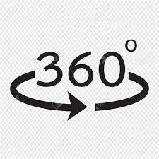 角度 360 度アイコン
