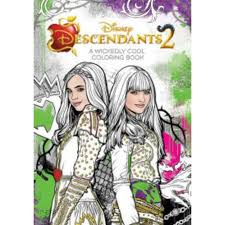 Descendants 2 Wickedly Cool Coloring Book Paperback Disney Book