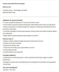 Associate Resume 23 Finance Resume Templates Pdf Doc Free Premium Templates