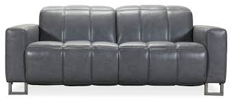 leni leather reclining sofa with articulating headrest