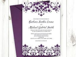 Wedding Invitations Templates Purple Traditional Wedding Invitation Template Danielmelo Info