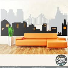 skyline wall decal chicago skyline sports wall decal