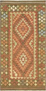hunter green 3 2 x 6 2 kilim maymana runner rug area rugs erugs