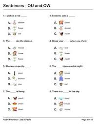 There are 80 pages of free phonics worksheets in total which can be done daily, weekly, or at any rate that suits the curriculum it's being used with. Phonics Second Grade Ou And Ow Series Phonics Phonics Worksheets Grade 1 Phonics Lessons