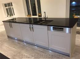 crystal black sparkle black quartz stone worktop kitchen countertop fireplace with eased edging widely used in residential and commercial kitchen and bath