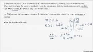 writing linear functions word problems algebra practice khan academy