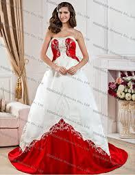 Red And White Wedding Dresses Plus Size Wedding Short Dresses