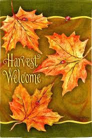 fall garden flags. Harvest Welcome - Autumn Garden Flag Fall Flags U