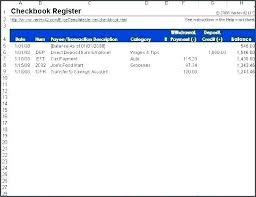 Excel Spreadsheet Templates Check Register Bank Template Free
