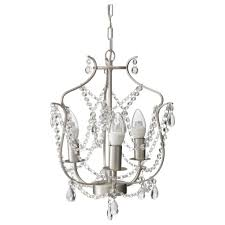new in box ikea kristaller 3 armed silver glass adjule height chandelier