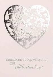 Glückwunschkarte Herzliche Glückwünsche Zur Silberhochzeit Gedenkshop