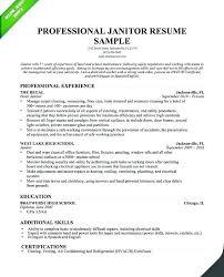 Janitor Resume Sample Cool Custodian Resume Sample Free Professional Resume Templates