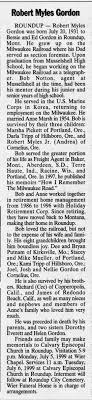 Robert Myles Gordon Obituary - Newspapers.com