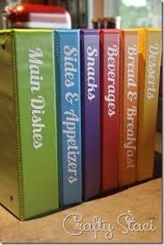 diy cookbooks binder storagecookbook