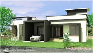 Innovation Single Story Modern Home Design Floor House Plans August 2013 Kerala Intended Simple