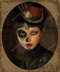 3d puter graphics of a with sugar skull makeup and a topper of her head photo by majorgaine