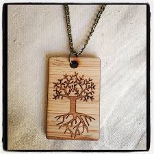 necklace tree of life eco friendly wood necklace by one happy leaf one happy leaf madeit com au