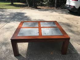 Slate top coffee table Sunny Designs Slate Top Coffee Table Real Wood 48x42x19 In Very Good Condition Better Homes And Gardens Used Slate Top Coffee Table Real Wood 48x42x19 In Very Good