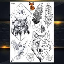 Nové Dreamcatcher Vlk Totem Dočasné Tetování Samolepky Pro ženy
