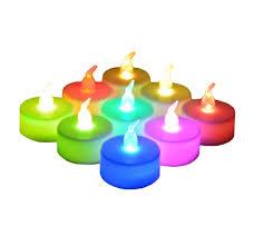 Color Changing Battery Tea Lights 24 Pack Led Tea Lights Candles 7 Color Changing Flameless