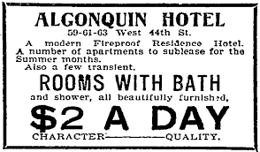 the algonquin hotel opened nov 22 1902 this ad is from the following