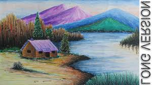 most beautiful scenery of nature drawing pictures pretty to draw