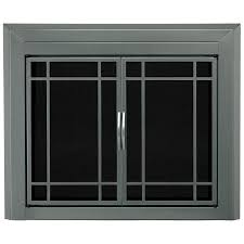 Shop Pleasant Hearth Edinburg Gunmetal Medium Cabinet-Style ...