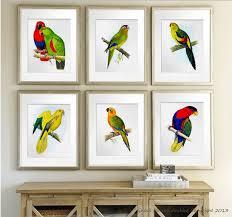 wall art prints birds