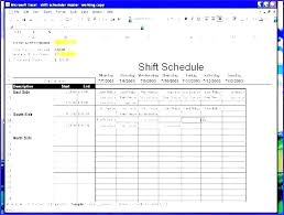 Monthly Work E Mpla Luxury 7 Day Employee Hour Excel 4 Week