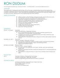 Graduate structural engineer CV