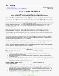 Security Operations Manager Resume Resume Work Template