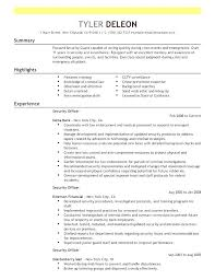 Simple Resumes Examples Classy Security Guards Resume Sample Guard Curriculum Vitae For Supervisor