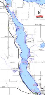 Lake Charlevoix South Arm Map Charlevoix County Michigan