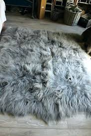 grey fur rug gray fur rug huge grey sheepskin rug grey fur rug large large grey