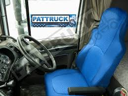 truck eco leather seat covers fit daf xf 105 cf 85 pair of blue