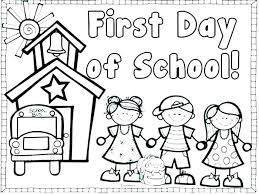 back to school coloring pages printable for kindergarten preschool welcome