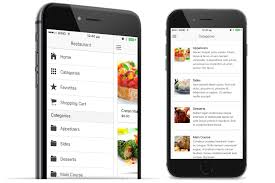 restaurant menu design app restaurant ionic appseed